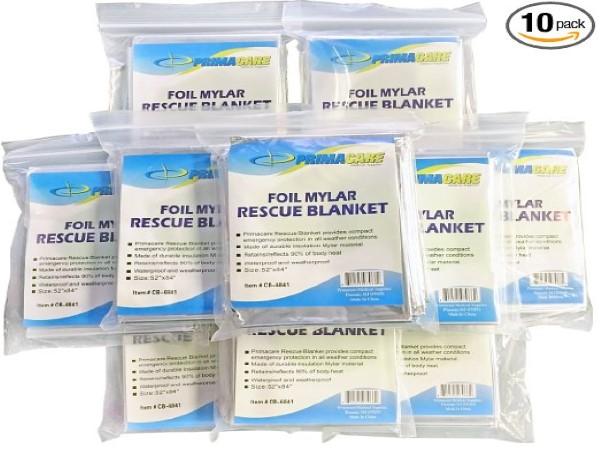 Primacare HB-10 Emergency Foil Mylar Thermal Blanket