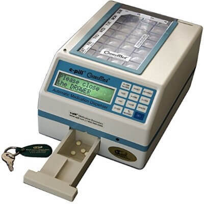 Automatic Pill Dispenser Tamper Resistant, Long Alarm and Text Message