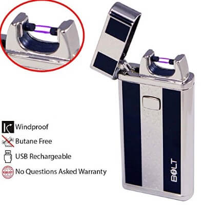 BOLT Lighter USB Rechargeable Windproof Electric Plasma
