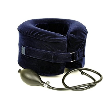 Cervical Neck Traction Device Inflatable Pillow Instant Relief