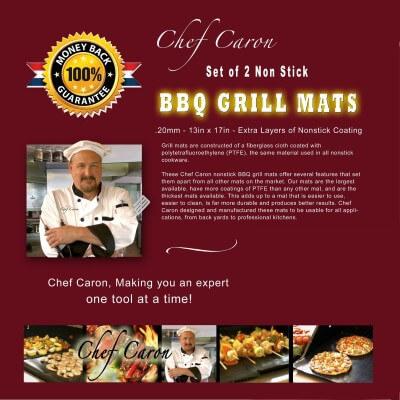 Chef Caron Non Stick BBQ Grill Mats