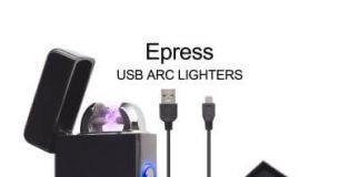 Electric Lighter, Epress Dual Arc Flameless