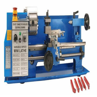 Erie Tools 7 x 14 Precision Bench Top Mini Metal Milling Lathe