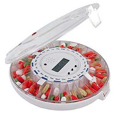 GMS Med-e-lert 28 Day Automatic Pill Dispenser