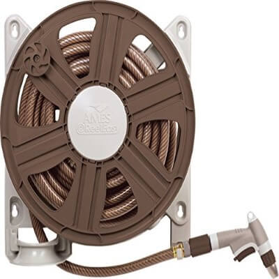 NeverLeak Side Mount Hose Reel with 100-Feet Hose Capacity