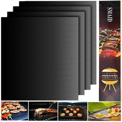 Smaid - Grill Mat Set of 4 - 100% Non-stick BBQ Grill Mats