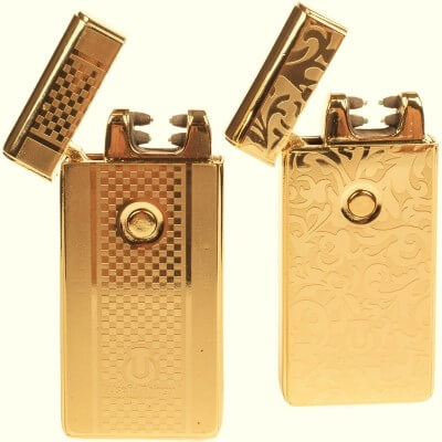 USB Lighters 2 Pack - Dual Arc Electronic Lighter Electric Plasma Lighter