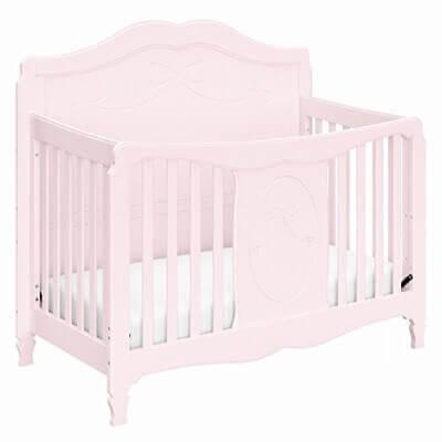 Stork Craft Princess 4-in-1 Convertible Crib, Primrose Pink