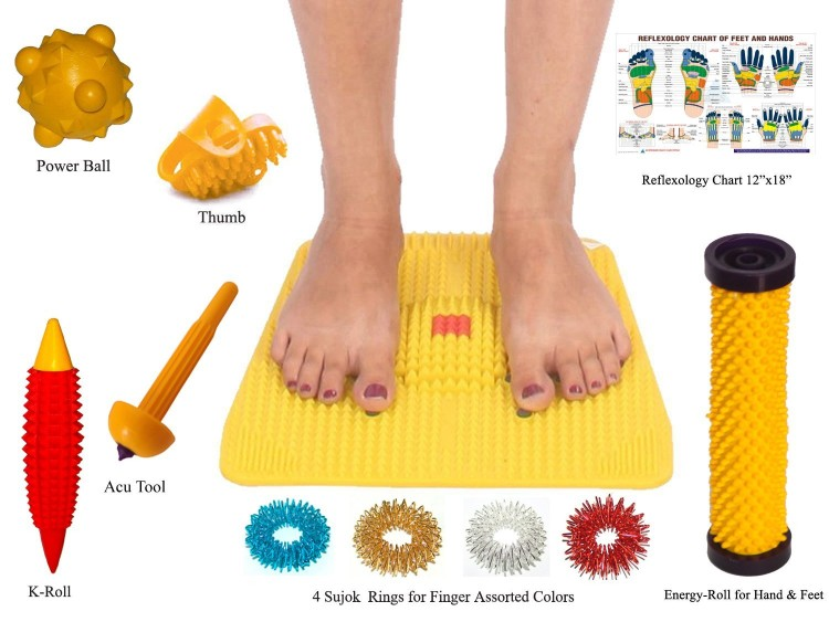 Acupressure Mat Magnets Pyramids