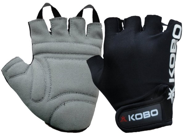 Kobo Exercise Weight Lifting Grippy Hand Protector Padded Gym & Fitness Gloves