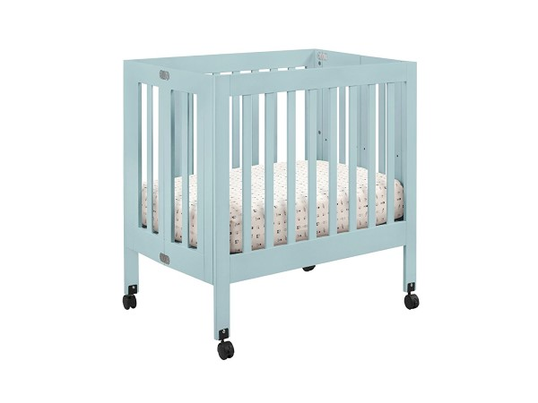 Babyletto Origami Mini Crib, Lagoon