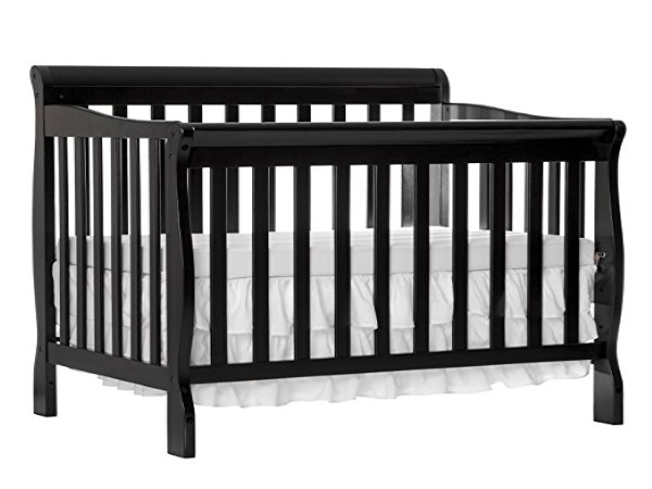 Dream On Me 4 in 1 Aden Convertible Mini Crib, Black