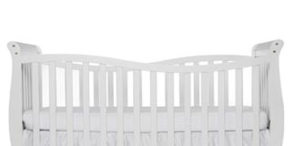 Dream On Me Violet 7 in 1 Convertible LifeStyle Crib, White