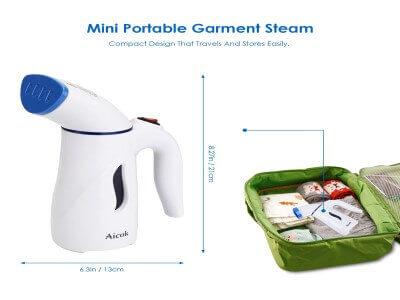 Aicok Clothes Steamer, Mini Travel Garment Steamer
