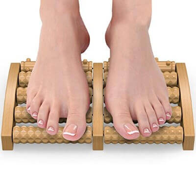 Gideon Wooden Dual Foot Massager and Roller