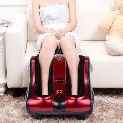 Shiatsu Kneading Rolling Vibration Heating Foot & Calf Massager