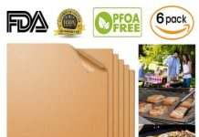 Aquablessing Copper Grill Mat 6 Set 15.75x13