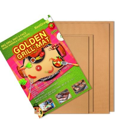 BestGreen Copper Grill Mat Golden Grill Mats and Bake Mats