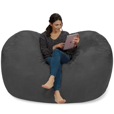 Chill Sack Memory Foam Bean Bag Lounger, 6-Feet
