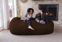 chill Sack Memory Foam Bean Bag Lounger, 7.5-Feet