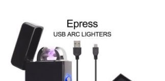 Electric Lighter, Epress Dual Arc Flameless