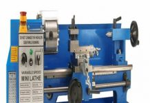 Erie Tools 7 x 14 Precision Bench Top Mini Metal Milling Lathe