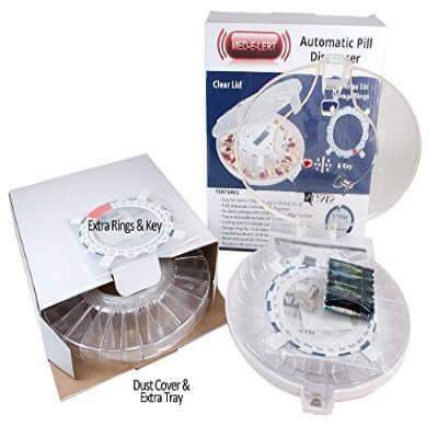 GMS Med-e-lert 2Trays - 28 Day Automatic Pill Dispenser