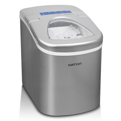 Ivation IVA-ICEM15SIL Portable Ice Maker
