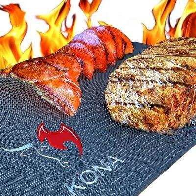KONA Best BBQ Grill Mat - Heavy Duty 600 Degree Non-Stick Mats