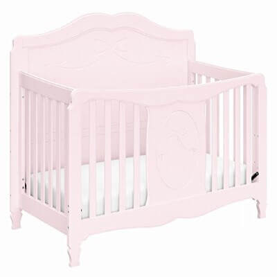 Stork Craft Princess 4-in-1 Convertible Crib, Primrose Pink