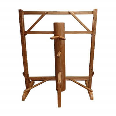 Adjustable Frame Wing Chun Wooden Dummy Brown