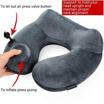 Purely soft Velvet Inflatable Travel Pillow