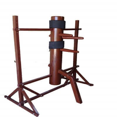 Traditional Ip Man Wooden Dummy with Adjustable Stand