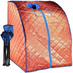 Copper coloured Durhrem portable infrared sauna